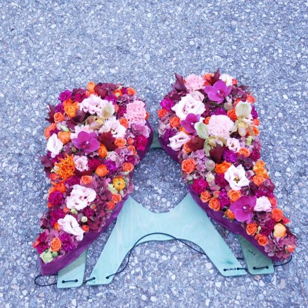 Composition florale obsèques enfants_LAnge deux ailes_Bouvard Fleurs